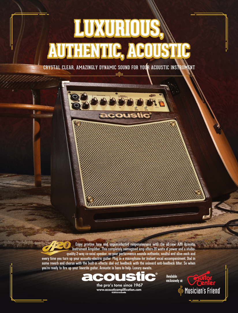 Acoustic: A-Series Instrument Amp Print Ad