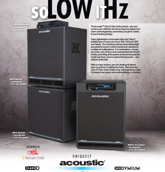 "Acoustic: Class D Neo ""So Low it Hz"" Print Ad"