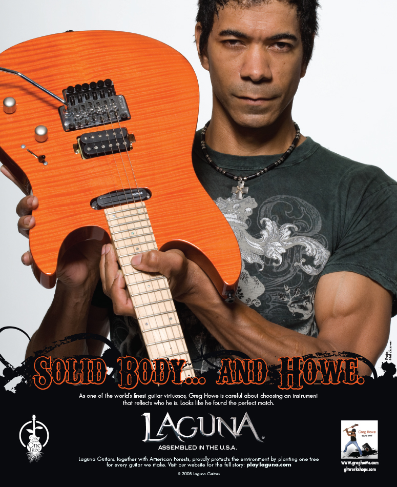 Laguna Guitars: Solid Body Greg Howe Launch Ad