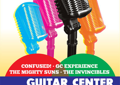 Guitar Center's Musician's Night Poster and Digital Graphics: April 2014