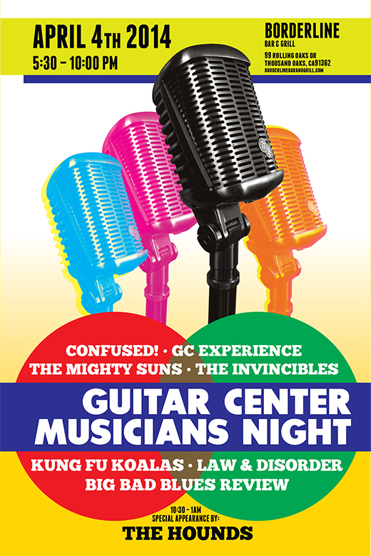 julie viens guitar center mic microphone musicians night