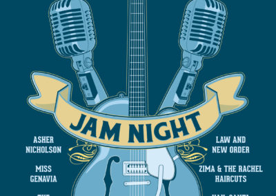 Guitar Center and Musician's Friend Jam Night Poster and Digital Graphics: December 2014