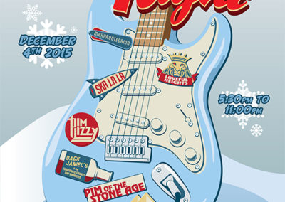 Guitar Center and Musician's Friend Jam Night Poster and Digital Graphics: December 2015