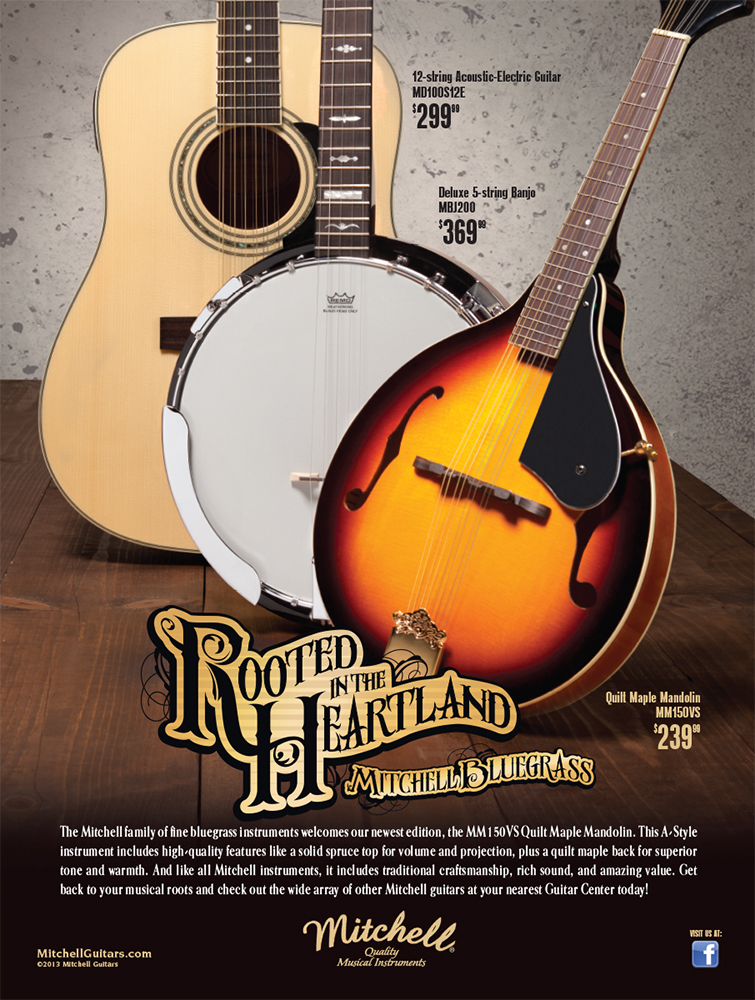 Mitchell Guitars: Rooted in the Heartland Bluegrass Poster and Print Ad