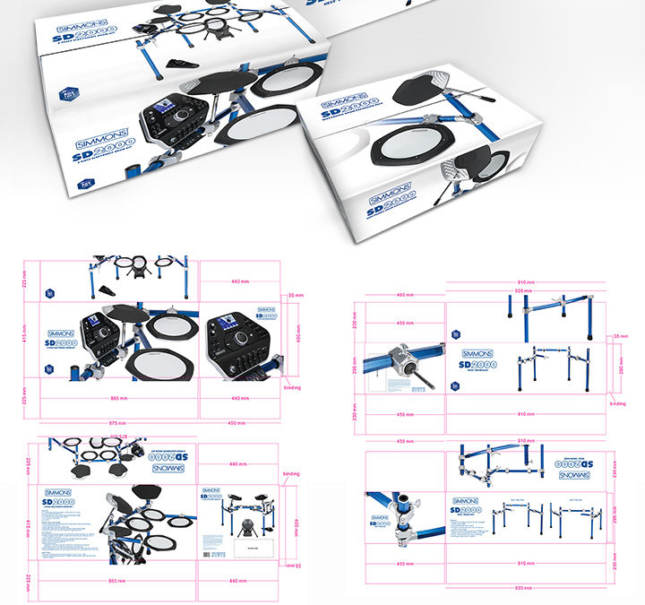 Simmons SD2000 Electronic Drum Kit Packaging