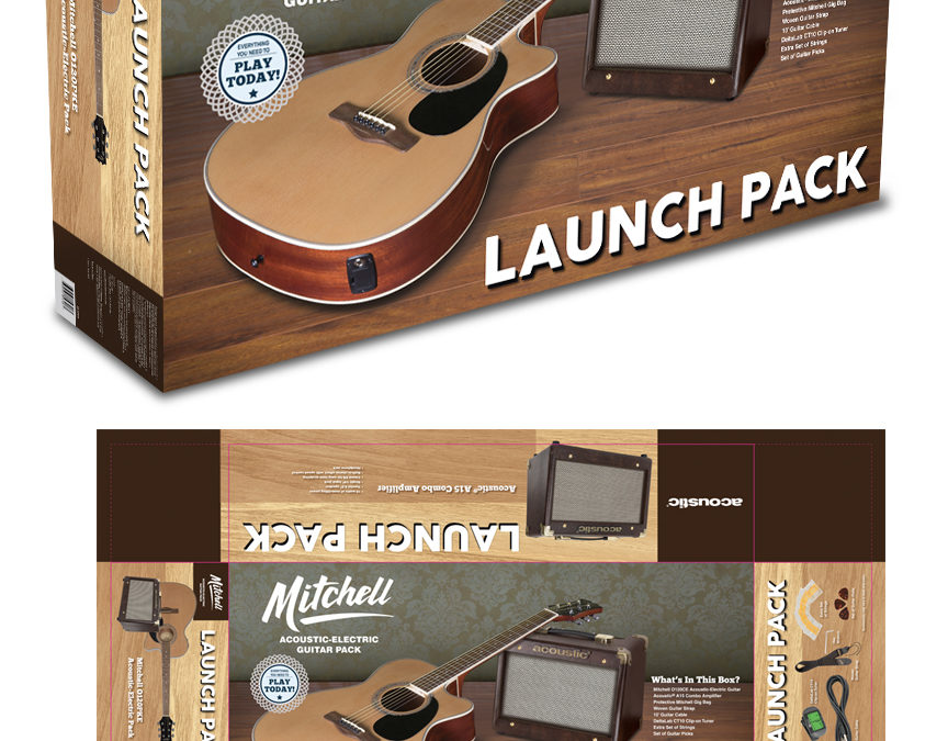 Mitchell & Acoustic Launch Pack: Acoustic Guitar & Amp Packaging