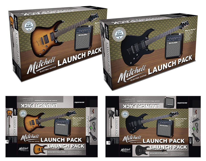 Mitchell & Acoustic Launch Pack: Electric Guitars & Amp Packaging