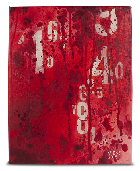 julie viens numeric values slash budget acrylic painting abstract