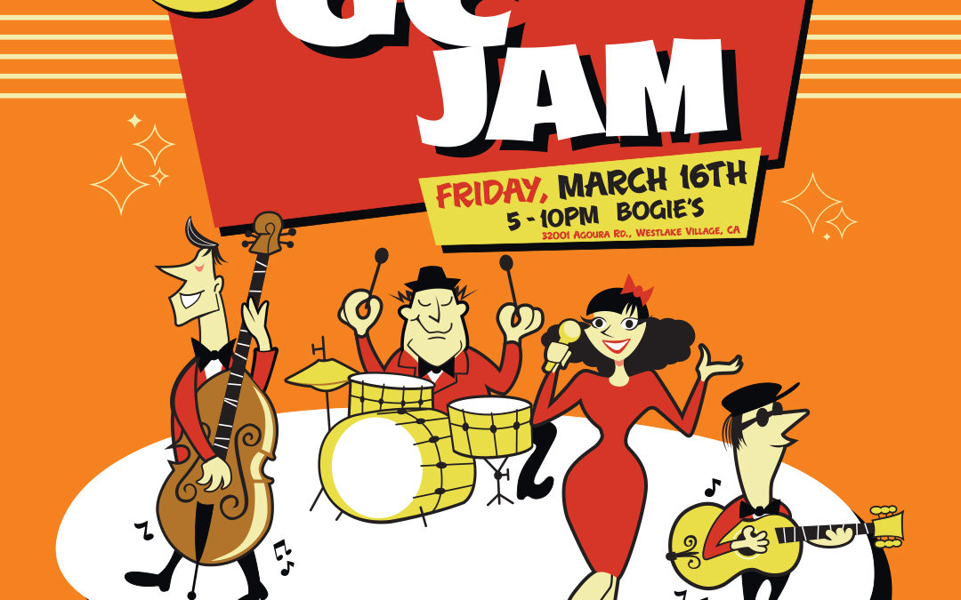 Guitar Center Jam Night Poster and Digital Graphics: March 2018