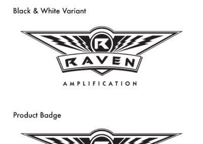 Raven Amplification Logo and Badge