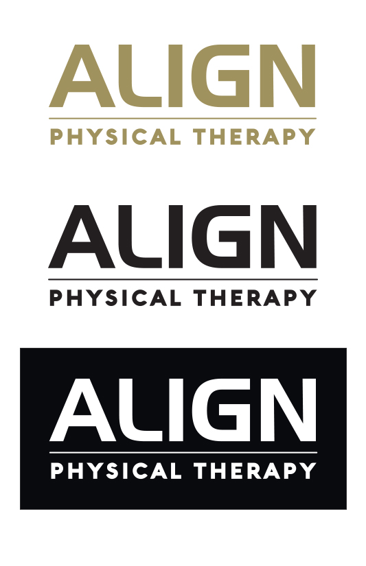 julie viens align physical therapy logo identity wordmark brand
