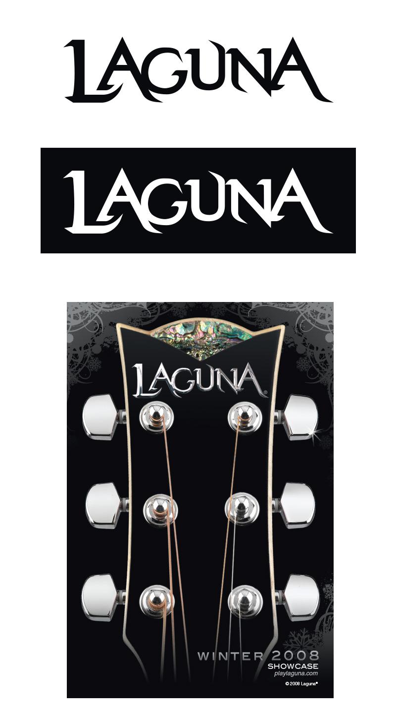 julie viens laguna guitar logo identity wordmark brand