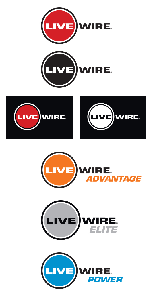 Live Wire Logo and Identity