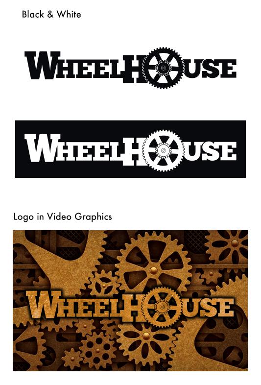 wheelhouse julie viens logo identity brand wordmark gear
