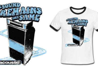Acoustic Amplification Retro T-Shirt Design