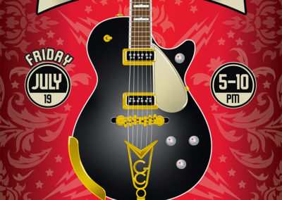 Guitar Center Jam Night Poster and Digital Graphics: July 2019