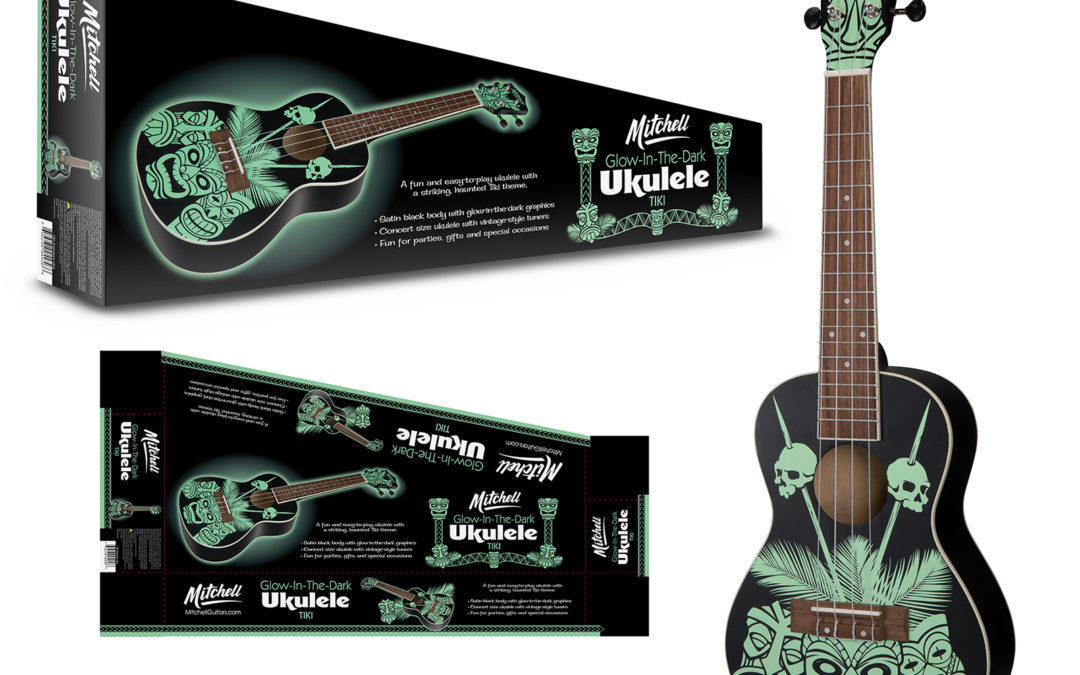 Mitchell: Glow-in-the-Dark Tiki Ukulele and Packaging