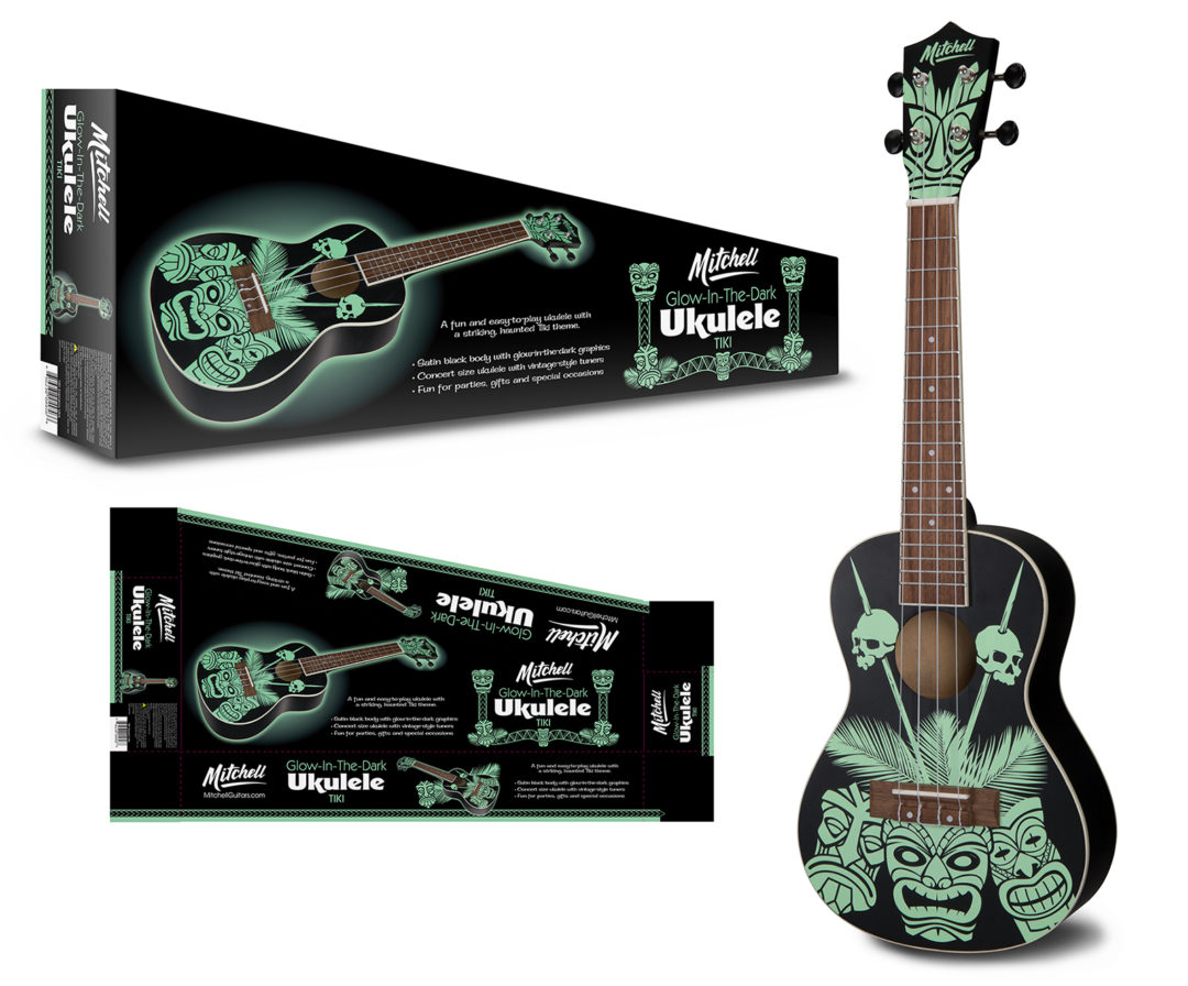 Mitchell Glow in the Dark Ukulele and Packaging