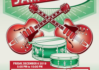 Guitar Center Jam Night Poster and Digital Graphics: December 2019