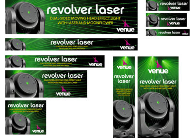 Venue Revolver Laser Dual-Sided Web and Mobile Banner Ads