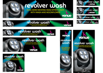 Venue Revolver Wash Dual-Sided Web and Mobile Banner Ads